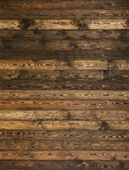 Wood flooring texture.Restored old wooden boards.Background of horizontal village slats