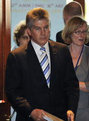 Australia's Foreign Minister Stephen Smith arrives for ASEAN ministerial meeting with Australia in Phuket
