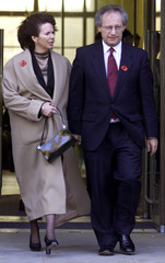 SCOTLAND'S FIRST MINISTER HENRY MCLEISH LEAVES THE SCOTTISH EXECUTIVEIN EDINBURGH.