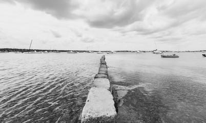 Formentera beach black and white