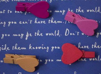 wooden hearts on a beautiful background