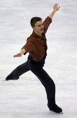 TIMOTHY GOEBEL OF THE USA SKATES DURING THE QUALIFYING ROUND OF THE WORLD FIGURE SKATING CHAMPIONSHIPS.