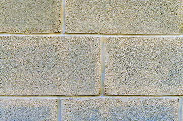 Cinder block wall with cracks