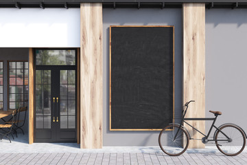 Gray cafe, blackboard