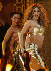 Shakira performs Hips Don't Lie at the 49th Annual Grammy Awards in Los Angeles