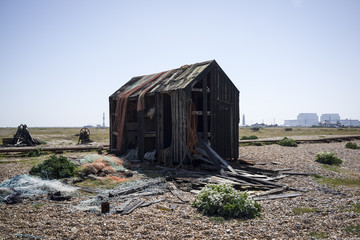 Abandoned shed in Dungeness, Kent UK.