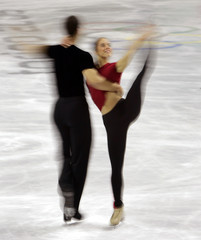 US figure skaters Hinzmann and Parchem practice ahead of Winter Olympic Games
