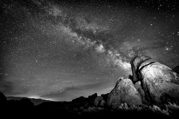 Milky Way in Black and White