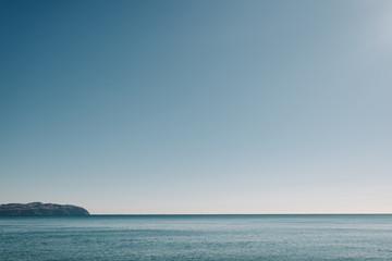 alaskan beach ocean horizon