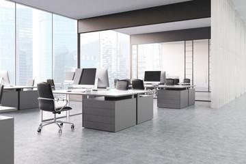 Gray open office area