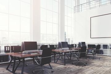 Open office, whiteboard, corner, toned