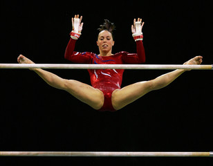 Tweddle of Britain competes at the Artistic Gymnastics World Championships in Melbourne