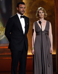 Cynthia Nixon and Liev Schreiber present at the 61st Annual Tony Awards in New York
