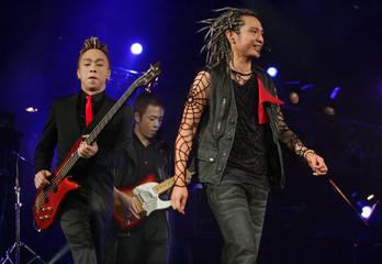 "Hong Kong soul rock band ""Beyond"" perform at their farewell concert in Hong Kong."
