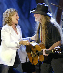 CAROLE KING AND WILLIE NELSON PERFORM AT WILTERN THEATRE FOR TELEVISION SPECIAL.