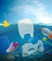 Plastikmüll im Meer - Plastic waste in the ocean