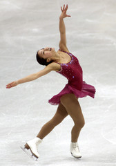USA's Michelle Kwan skates her free program at the World Figure Skating Championships in Vancouver, ..