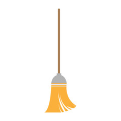 broom on white background , vector