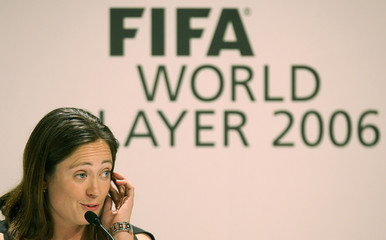 Soccer player Lingor of Germany talks to media during press conference before FIFA World Player gala in Zurich