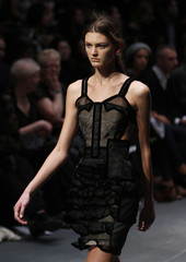 A model presents a creation from the Christopher Kane 2009 Autumn/Winter collection during London Fashion Week