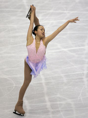 Japan's Asada performs at the women's short program of the World Figure Skating Championships in Tokyo
