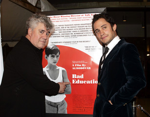 Mexican actor Gael Garcia Bernal and Spanish director Pedro Almodovar prior to a screening of their new ...