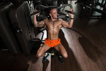 Bodybuilder Exercising Shoulder