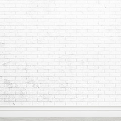 Old white brick wall texture for background usage as a backdrop design