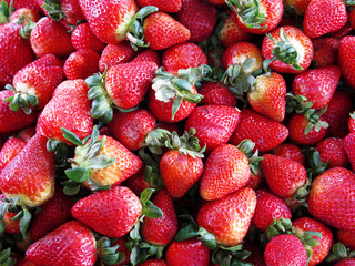 Delicious strawberries background