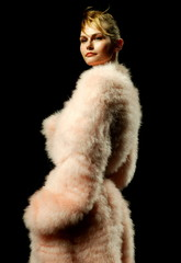A model wears a creation by French designer Stephan Janson during his Fall/Winter 2004-2005 Haute Co..