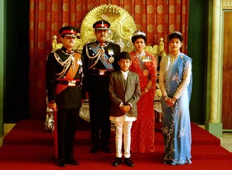 -FILE PHTO 1990 - The Nepalese Royal family is seen in this picture taken during the coming of the a..