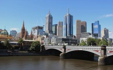 Fototapete - Melbourne City, Victoria, Australie