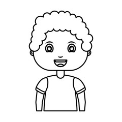 cute little boy character vector illustration design