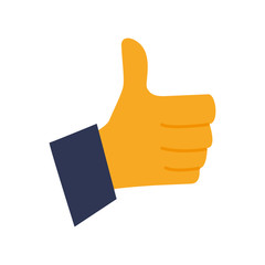 Thumb up like symbol icon vector illustration graphic design
