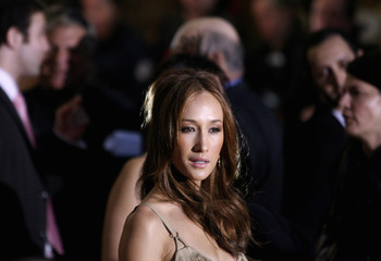 "Cast member Maggie Q arrives for the premiere of the film ""Live Free or Die Hard"" in New York"