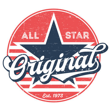 All Star Original - Used Look T-Shirt Design