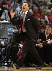 Louisville head coach Pitino reacts in their NCAA basketball game against Boise State in Birmingham
