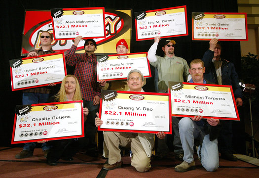 Eight Powerball winners are announced in Lincoln Nebraska