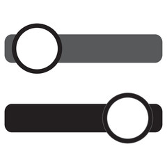 On off switch vector icon