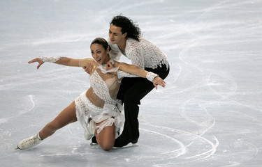 Italy's Faiella and Scali perform their Free Dance program during the Bompard Trophy event at Bercy in Paris