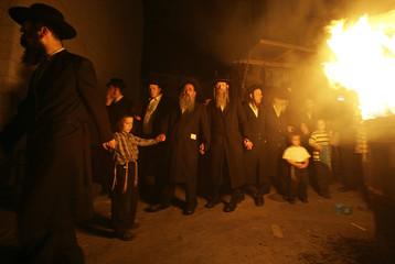 Ultra Orthodox Jews take part in Lag Ba-Omer festivities in Jerusalem
