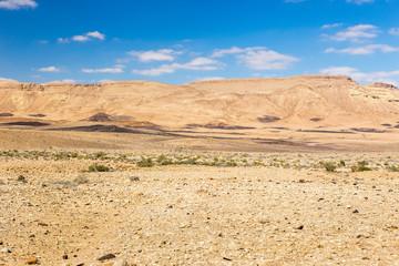 Colorful desert mountains hills landscape beautiful view.