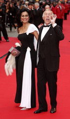 British entertainer Bruce Forsyth and his wife arrive for the British Academy Television Awards in London