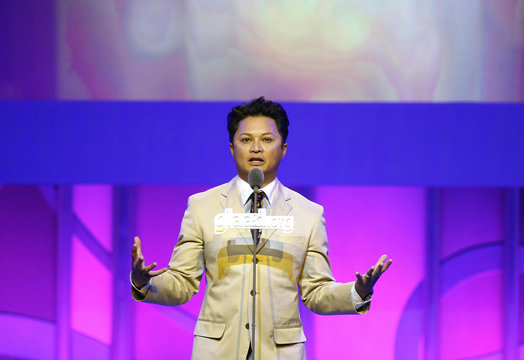Comedian Alec Mapa addresses the audience during the 19th annual GLAAD Media awards in New York