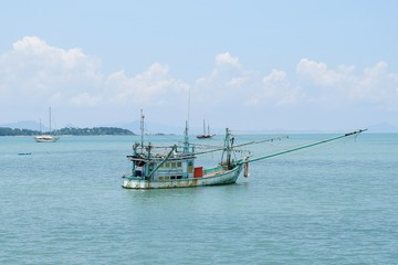 Fishing boat in the Krabi province Thailand.