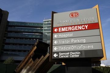 The Cedars-Sinai hospital is pictured in Los Angeles