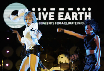 Japanese singer Kumi Koda performs at the Live Earth concert in Chiba, Japan
