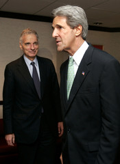 JOHN KERRY MEETS WITH RALPH NADER.