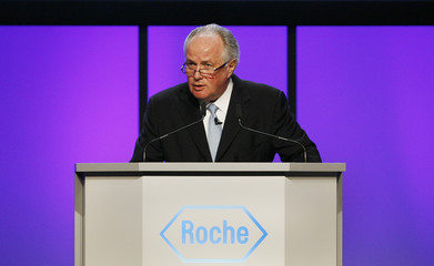 Humer chairman of the board of the Swiss pharmaceutical company Roche attends general annual shareholders meeting in Basel