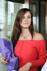 Miss World 2004 Maria Julia Mantilla Garcia from Peru leaves a hotel in Sanya on China's tropical island of Hainan